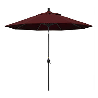 California Umbrella GSPT908302-SA36 9 ft. Aluminum Market Umbrella Push Tilt - M Black-Pacifica-Burgandy at Sears.com