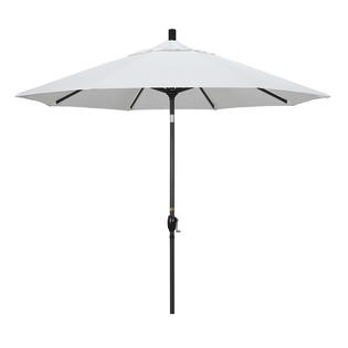 California Umbrella GSPT908302-5404 9 ft. Aluminum Market Umbrella Push Tilt - M Black-Sunbrella-Natural at Sears.com