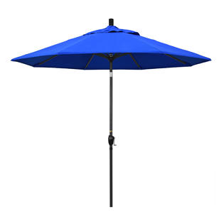California Umbrella GSPT908302-5401 9 ft. Aluminum Market Umbrella Push Tilt - M Black-Sunbrella-Pacific Blue at Sears.com