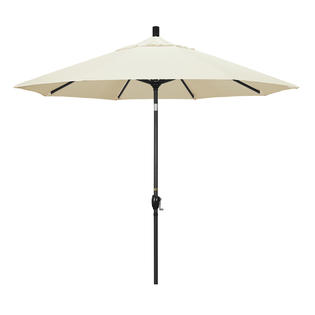 California Umbrella GSPT908302-5453 9 ft. Aluminum Market Umbrella Push Tilt - M Black-Sunbrella-Canvas at Sears.com