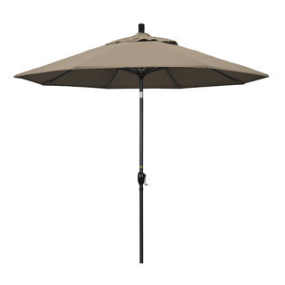California Umbrella GSPT908302-SA61 9 ft. Aluminum Market Umbrella Push Tilt - M Black-Pacifica-Taupe at Sears.com