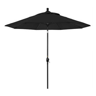 California Umbrella GSPT908302-5408 9 ft. Aluminum Market Umbrella Push Tilt - M Black-Sunbrella-Black at Sears.com