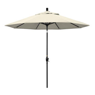 California Umbrella GSPT908302-F22 9 ft. Aluminum Market Umbrella Push Tilt - M Black-Olefin-Antique Beige at Sears.com