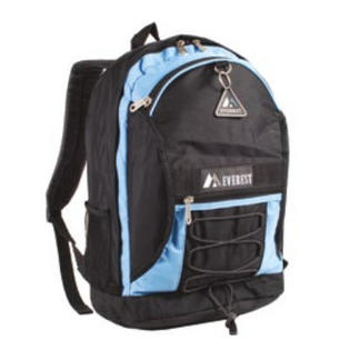 Everest 3045SH-BU 17 in. Two-tone Backpack with Mesh Pockets at Sears.com