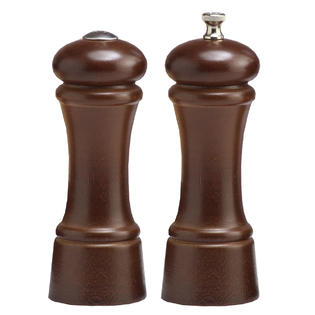 Chef Specialties 06100 6 Inch - 15cm EleganceWalnut Pepper Mill Salt Shaker Set at Sears.com