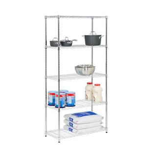 Honey-can-do Honey Can Do SHF-01913 Five Tier Storage Shelves in Chrome at Sears.com