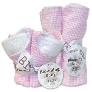Trend Lab 20934 Pink Gingham- Bib Bouquet And Burp Bouquet- Set at Sears.com