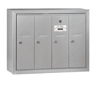 Salsbury Industries 3504ASU Vertical Mailbox - 4 Doors - Aluminum - Surface Mounted - USPS Access at Sears.com