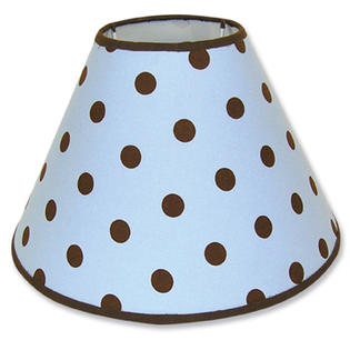 Trend Lab 107912 Max Dot Lampshade- Blue-Brown Dot Print Percale With Brown Percale Trim- 4 X 7 X 10 at Sears.com