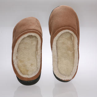 Deluxe Comfort Male memory foam Slippers - Camel Suede with wool fleece lining - 9-10 at Sears.com