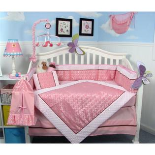 Soho Designs SoHo Pink Paisley Baby Crib Nursery Bedding Set 14 pcs included Diaper Bag with Changing Pad, Accessory Case &amp; Bottle Case at Sears.com