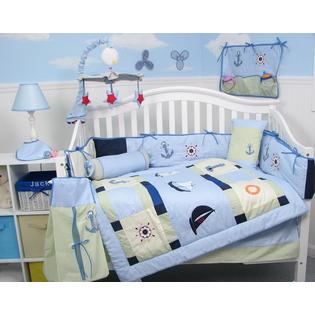 Soho Designs Baby Sailboat Baby Crib Nursery Bedding Set 14 pcs included Diaper Bag with Changing Pad, Accessory Case &amp; Bottle Case at Sears.com