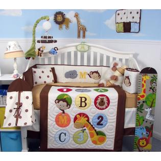 Soho Designs SoHo 123 Giraffe Baby Crib Nursery Bedding Set 14 pcs included Diaper Bag with Changing Pad, Accessory Case &amp; Bottle Case at Sears.com
