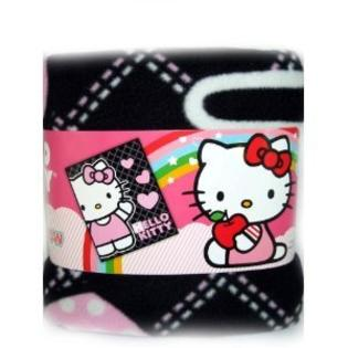 Sanrio Hello Kitty Plush Throw Pink Heart Black at Sears.com