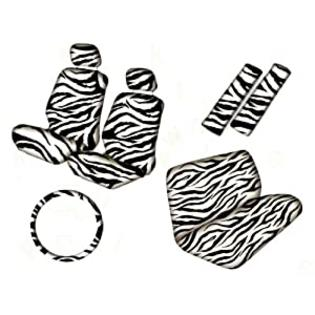 Unique 11pc White Zebra Seat Covers Full Set at Sears.com