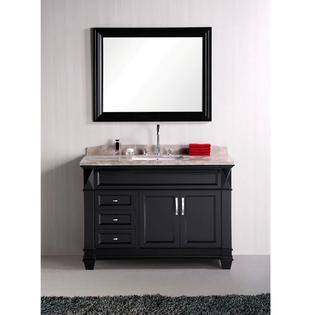 AT HOME by O Design Element Hudson 48-inch Single Sink Marble Top Bathroom Vanity Set at Sears.com