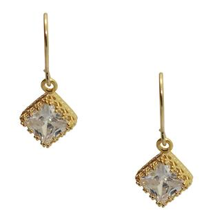 Eziba Collection 14k Yellow Gold over Sterling Silver Square-cut Cubic Zirconia Earrings at Sears.com