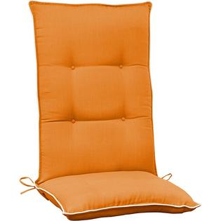 Overstock.com Orange with Beige High Back Patio Chair Cushion at Sears.com