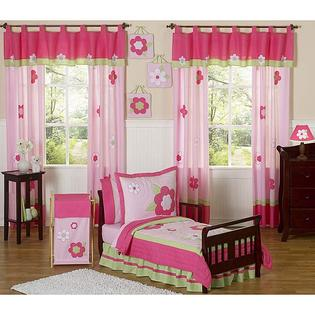 AT HOME by O Sweet JoJo Designs Pink and Green Flower Collection 5-piece Toddler Girl&#039;s Bedding Set at Sears.com