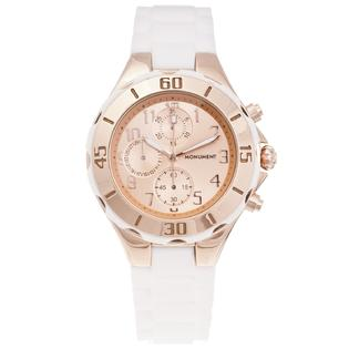 Eziba Collection Monument Women&#039;s Rubber Strap Rose-goldtone Sporty Watch at Sears.com