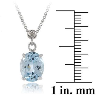 Eziba Collection Glitzy Rocks Sterling Silver 4 2/5ct TGW Blue Topaz and Diamond Accent Necklace at Sears.com