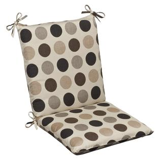 Overstock.com Pillow Perfect Outdoor Brown/ Beige Polka Dot Squared Chair Cushion with Sunbrella Fabric at Sears.com