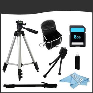 ZeemoDigital Accessory Bundle for Pentax K-30 SLR Camera includes Full Size Tripod, Monopod, Case, 8GB SD Card, Mini Tripod, Cleaning Kit at Sears.com