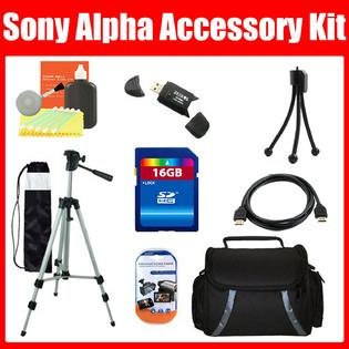 ZeemoDigital 16GB Accessory Kit For Sony Alpha NEX-7 Includes 16GB Hi-Speed Class 10 Memory + Tripod + Case + Mini HDMI Cable + MORE at Sears.com