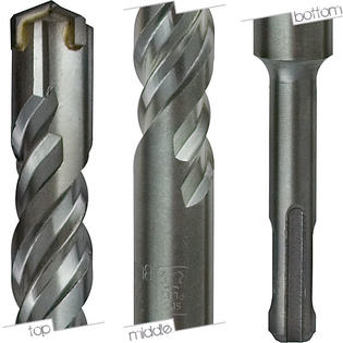 Heleta Rotary Hammer Drill Bits SDS-Plus 5/8&amp;#34; x 6&amp;#34; DL at Sears.com