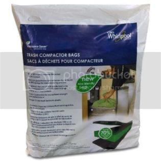 by Whirlpool Whirlpool W10351673RP 15-Inch Plastic Compactor Bags, 15-Pack at Sears.com