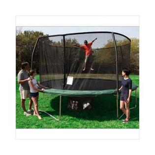 trampoline Bazoongi 15&#039; Kids Outdoor Fun  Round Jumper Trampoline and Zippered Enclosure Combo Set at Sears.com