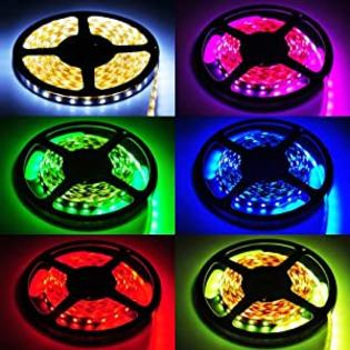 AOUPU 16.4 Ft RGB Color Changing Flexible LED Strip with 44 Key Remote Controller,Power Supply at Sears.com