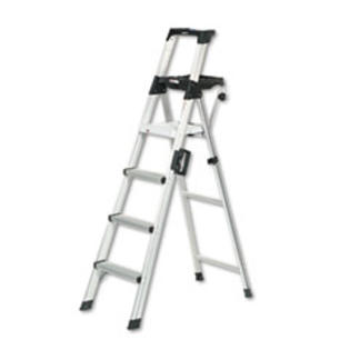 MotivationUSA * Six-Foot Lightweight Aluminum Folding Step Ladder w/Leg Lock &amp; Handle, at Sears.com