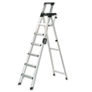 MotivationUSA * Eight-Foot Lightweight Aluminum Folding Step Ladder w/Leg Lock &amp; Handl at Sears.com