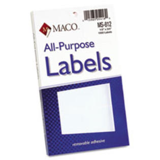 COU ** Multipurpose Self-Adhesive Removable Labels, 1/2 x 3/4, White, 1008/Pa at Sears.com