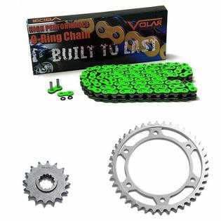 Volar 2005 Honda CBR600RR CBR 600RR 600 RR O-Ring Chain and Sprocket Kit - Green at Sears.com