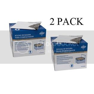 Whirlpool 2 Boxes Whirlpool W10165294RB 15-Inch Plastic Compactor Bags with Odor Remover 60-Pack at Sears.com