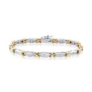 katarina 10K Two Tone Gold 1 ct. Diamond Tennis Bracelet at Sears.com