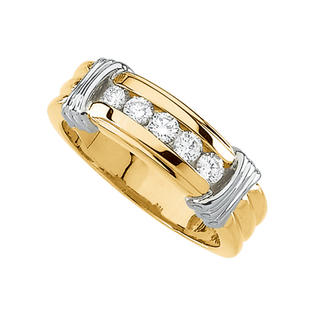 katarina 14K Two Tone Gold 1/2 ct. Diamond Men&#039;s Ring at Sears.com