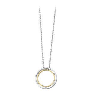 katarina 14K Two Tone Gold 1/5 ct. Diamond Concentric Circle Necklace at Sears.com