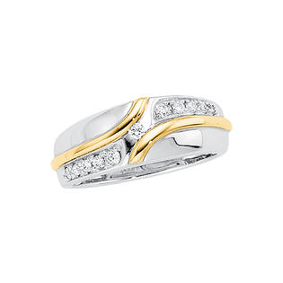 katarina 14K Two Tone Gold 1/5 ct. Diamond Men&#039;s Ring at Sears.com