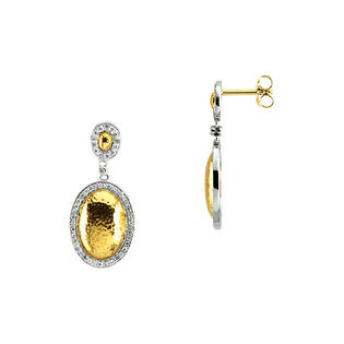 katarina 14K Two Tone Gold 1/2 ct. Diamond Earrings at Sears.com