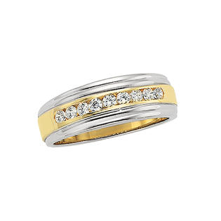 katarina 14K Two Tone Gold 1/3 ct. Diamond Men&#039;s Ring at Sears.com