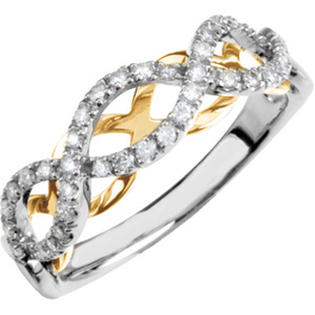 katarina 14K Two Tone Gold 1/4 ct. Diamond Ring at Sears.com