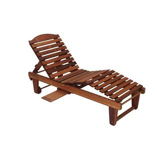 GREAT AMERICAN WOODIES Cypress Chaise - Finish: Cedar at Sears.com