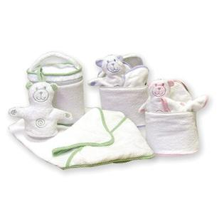 Trend Lab Terry Velour Bath Bag Set with Gingham Seersucker Trim - Trim Color: Pink at Sears.com