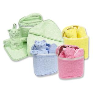 Trend Lab Terry Velour Bath Bag Set in Solid Colors - Color: Blue at Sears.com