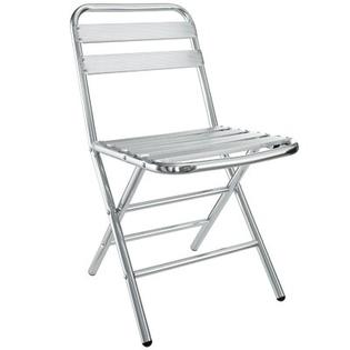 Modway Folderia Folding Stacking Dining Side Chair  - Material: Aluminum at Sears.com