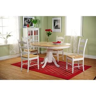 TMS 5 Piece Dining Set - Finish: White and Natural at Sears.com