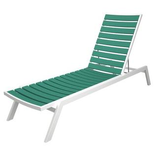 Polywood Euro Chaise - Finish: Textured Silver, Seat and Back Finish: Lime at Sears.com